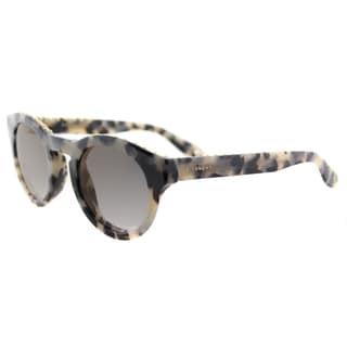 Givenchy GV 7007 AE4 studded Light Havana Plastic Round Gold Mirror Lens Sunglasses
