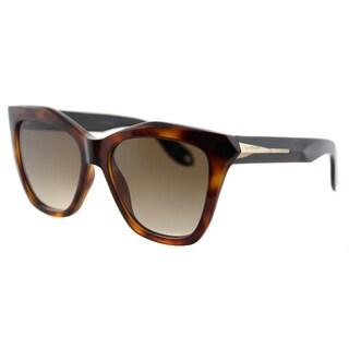 Givenchy GV 7008 QON Havana Black Plastic Cat-Eye Brown Gradient Lens Sunglasses