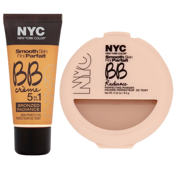 N.Y.C. BB Creme Medium Foundation Bronze and BB Radiance Warm Beige Perfecting Powder
