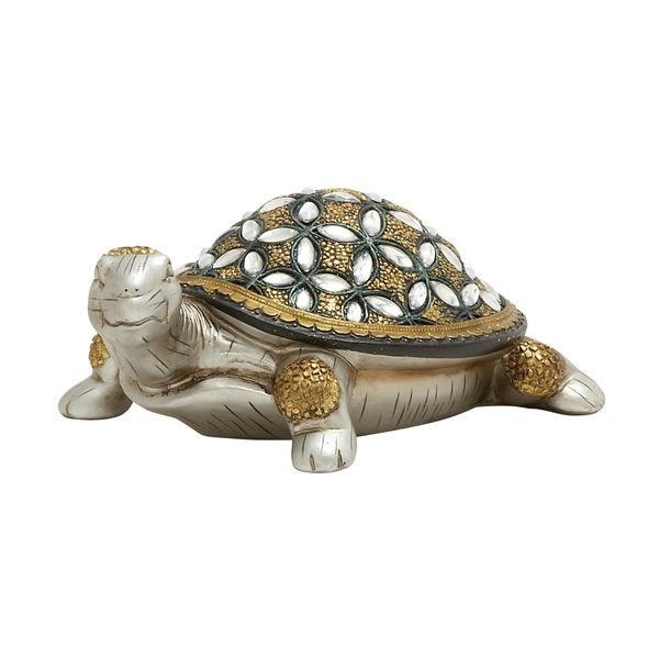 Gold & Silver Turtle Statue