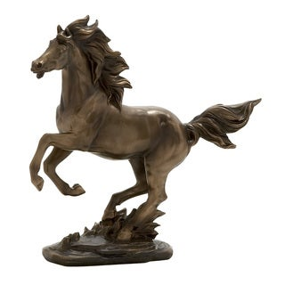Brown Polyester Horse Statue