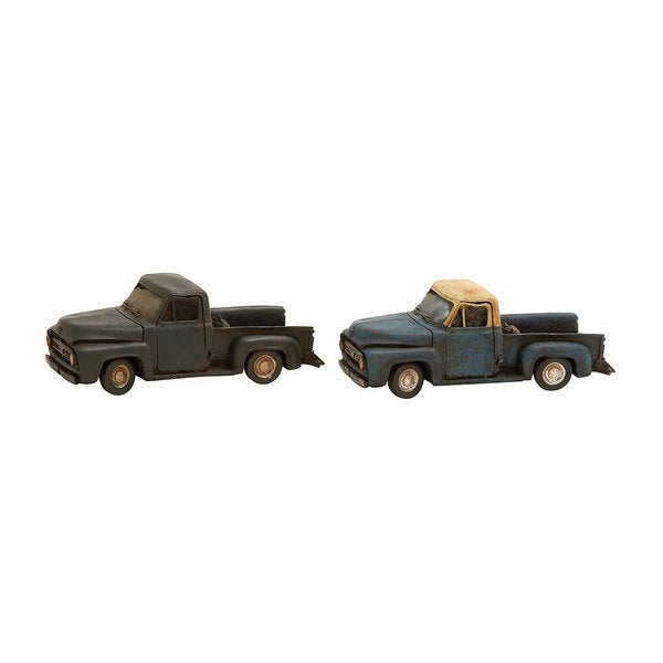 2-Pc Vintage Themed Truck Set