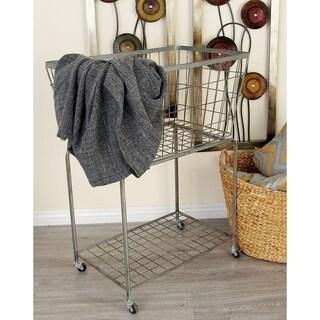 Benzara Metal Roll Storage Basket