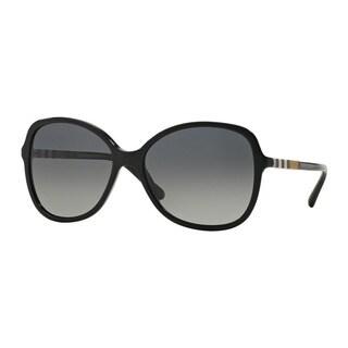 Burberry Women's BE4197 3001T3 Black Plastic Butterfly Sunglasses