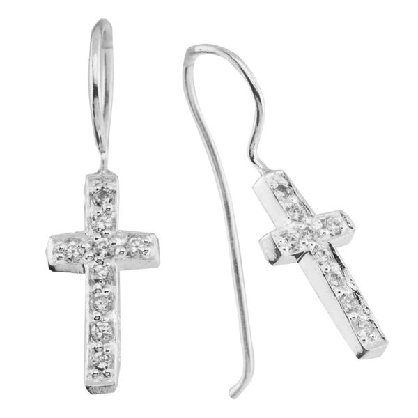 Haven Park Cross Fish Hook Earrings