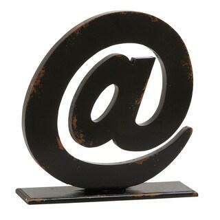 "Wood Symbol Table Decor 16""W, 16""H"