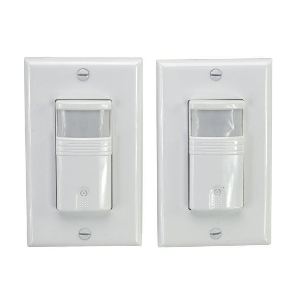HomeSelects Pack Of 2 Occupancy & Vacancy Wall Switch Sensors