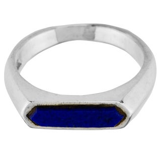 Haven Park Rhodium Plated Lapis Ring