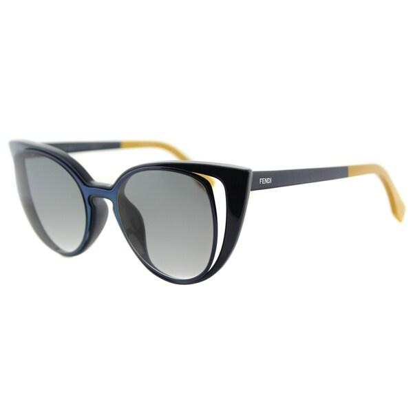 Fendi FF 0136 NY9 Blue Plastic, Metal Grey Gradient Lens Sunglasses
