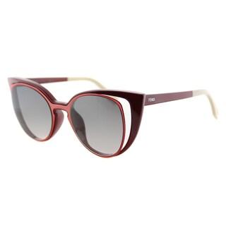 Fendi FF 0136 NZ1 Red And Orange Plastic, Metal Grey Gradient Lens Sunglasses