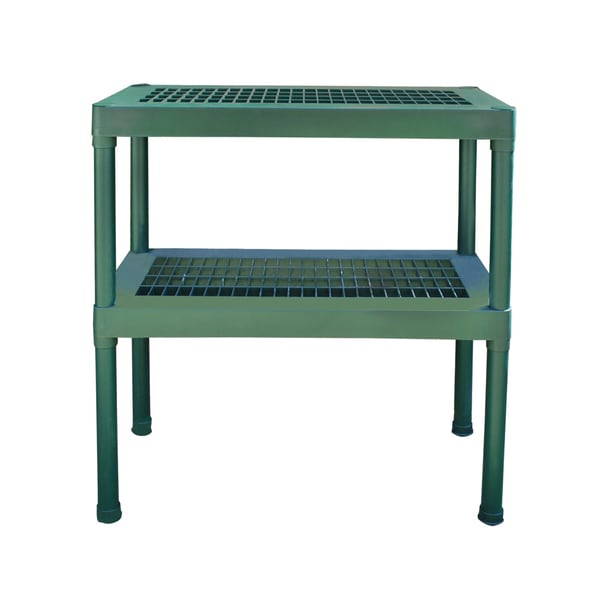 Rion Green Plastic 2-tier Staging Bench