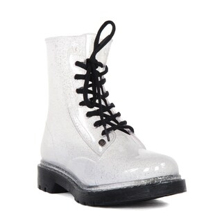 G Six Ladies' Clear Silver PVC See Through Rainboots