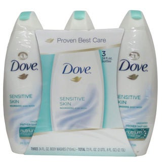 Dove Sensitive Skin Unscented 24-ounce Body Wash (Pack of 3)