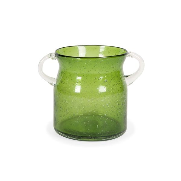 Stevenson Handblown Small Green Glass Jar