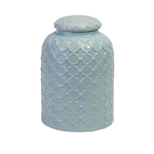 Robin's Egg Blue Lidded Jar