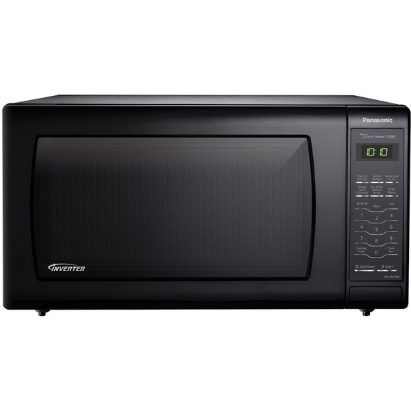 Panasonic NN-SN736B 1.6-cubic foot 1250-watt Genius Sensor Black Countertop Microwave Oven with Inverter Technology