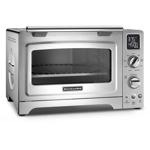 Countertop Convection Oven Kitchenaid : ... TOB-135 Brushed Stainless Steel Deluxe Convection Toaster Oven Broiler