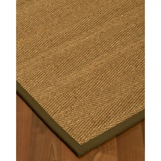 Handcrafted Costa Rica Natural Seagrass Rug - Taupe Binding, (9' x 12')
