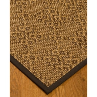 Handcrafted Oslo Natural Sisal Rug - Dark Brown Binding, (9' x 12')
