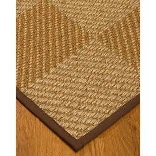Handcrafted Nirvana Natural Sisal Rug - Dark Brown Binding, (9' x 12')