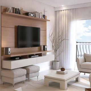 Manhattan Comfort City 1.8 Floating Wall Theater Entertainment Center