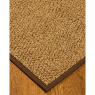 Handcrafted Miami Natural Seagrass Rug - Natural Binding, (5' x 8')
