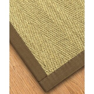 Handcrafted Formosa Natural Seagrass Rug - Taupe Binding, (6' x 9')