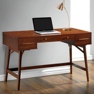 Mid-Century Modern Design Home Office Writing/ Computer Desk with Drawers