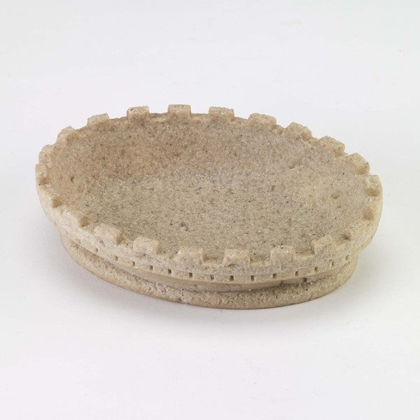 Avanti Sea and Sand Beige Resin Soap Dish