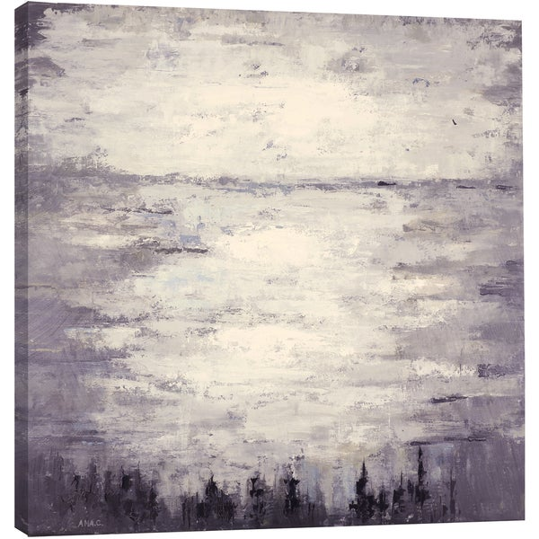 Hobbitholeco. 'Lake in the Afternoon' 40 x 40-inch Gallery-wrapped Canvas Art