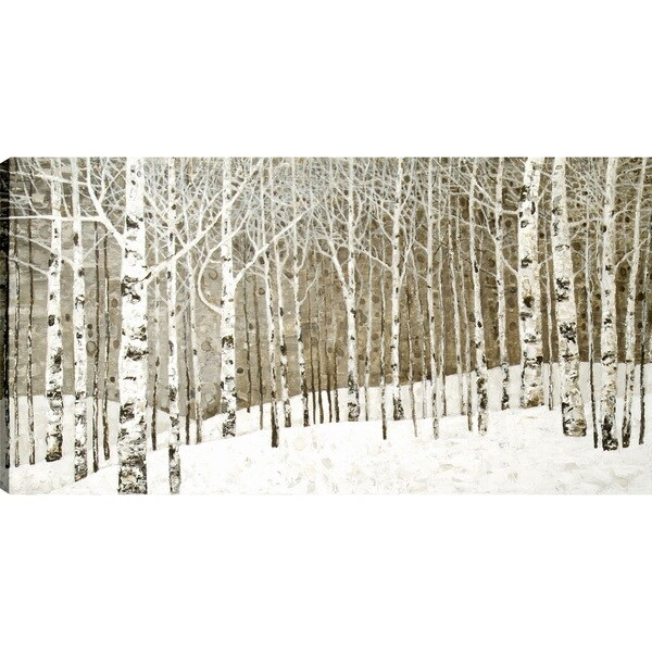 Tina O.'s Birch Tree' 30X60 Oil Canvas Art