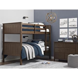 Dorel Living Maxton Mocha Twin over Twin Bunk Bed