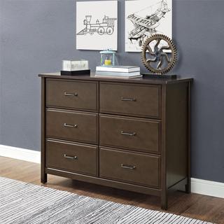 Dorel Living Maxton Mocha 6-Drawer Dresser