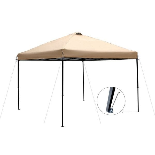 Abba Patio Fabric Outdoor Pop-up Folding Canopy with Roller Bag