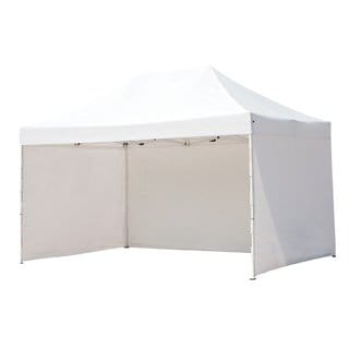 Abba Patio Pop Up 10 Feet x 15 Feet Steel Sturdy Instant Commercial Folding Canopy With Sidewalls Enclosure