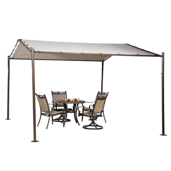 Abba Patio Beige 13-foot x 11.5-foot Portable Outdoor Canopy Garden Gazebo
