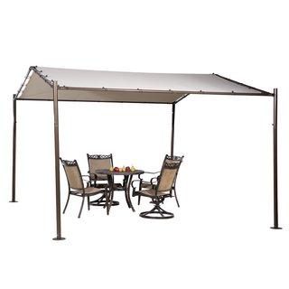 Abba Patio Beige 13-foot x 11.5-foot Portable Outdoor Canopy Garden Gazebo