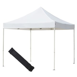 Abba Patio White 10 X 10-foot Outdoor Pop Up Portable Shelter Instant Folding Canopy with Roller Bag