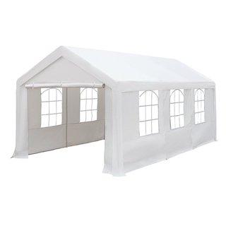 Abba Patio Party Canopy Gazebo White 10-feet x 20-feet Heavy Duty Waterproof Enclosed Carport
