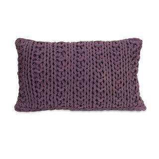 Mailie Purple Crochet Throw Pillow