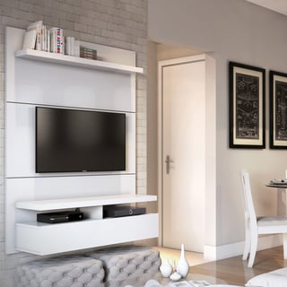 Manhattan Comfort City 1.2 Floating Wall Theater Entertainment Center