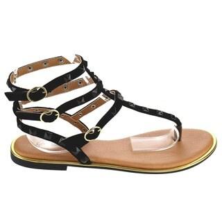 Qupid LENSIE-01 Gladiator Thong Sandals