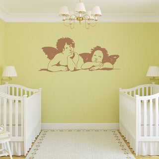 Two Angels Vinyl Wall Art Decal
