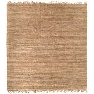 Hand-woven Natural Fiber Jute Rug (8' Square)