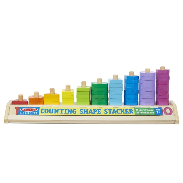 Melissa & Doug Counting Shape Stacker