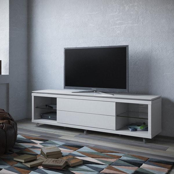 manhattan comfort vanderbilt tv stand and cabrini 2 2 floating wall tv panel with led lights. Black Bedroom Furniture Sets. Home Design Ideas