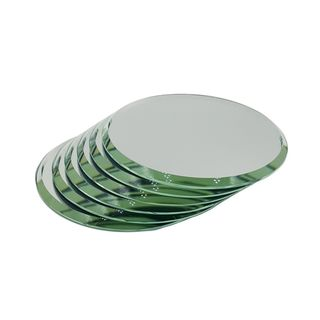 Crystal Florida Clear Glass 3-millimeter Round Mirrors