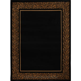Home Dynamix Zone Collection Transitional Machine Made Black Polypropylene Area Rug (5'2 x 7'4)