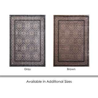 Home Dynamix Lyncrest Collection Traditional Machine Made Polypropylene Area Rug (5'2 x 7'2)