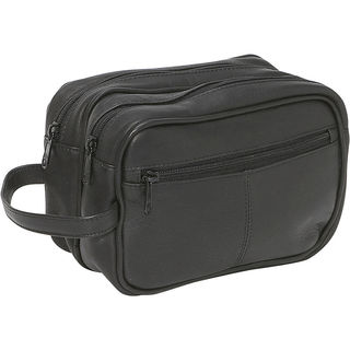 LeDonne Unisex Leather Toiletry Bag